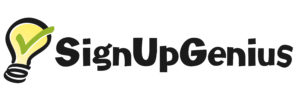 Sign Up Genius Logo - text with light bulb