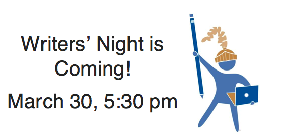Join us at Writers' Night!