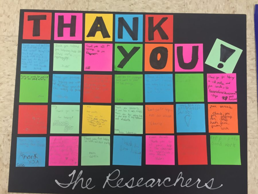 Volunteer Thank You Bulletin Board