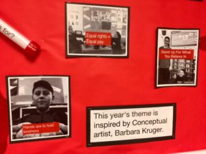 This year's theme is inspired by Barbara Kruger