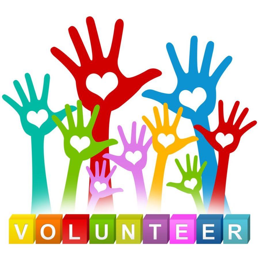 Volunteer! Hands raised