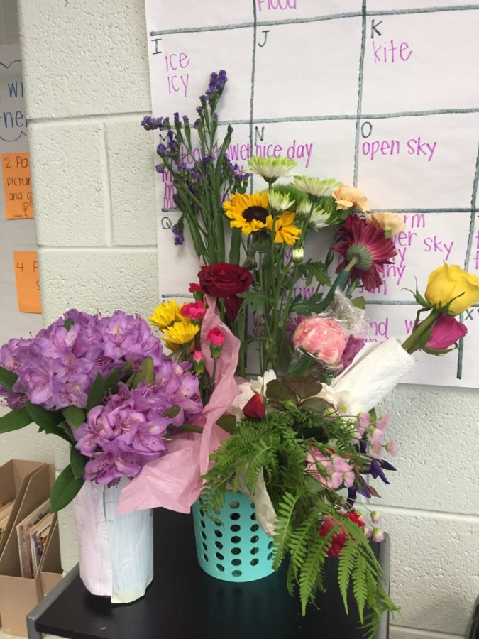Beautiful bouquets for teachers.