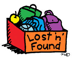 Box with Lost and Found items