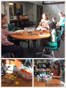 Parents and students at the Summer library night