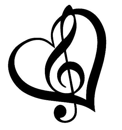 Heart and Music Note Image