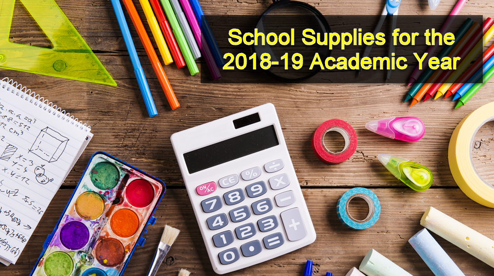 View & Order School Supplies for 2018-2019